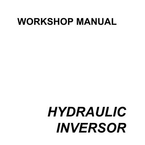 SAME DEUTZ-FAHR HYDRAULIC INVERSOR 80-105 HP Service Repair Workshop Manual