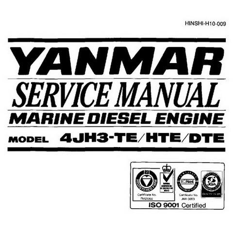 Yanmar 4JH3 Series Marine Diesel Engine Repair Service Manual