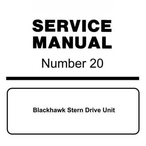 Mercury Marine MerCruiser Service Manual #20 Blackhawk Stern Drive Unit