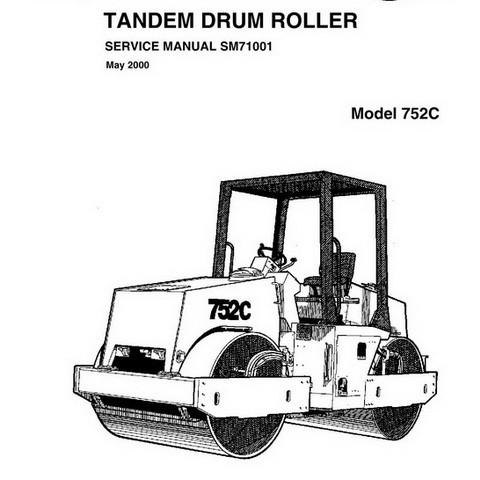 Vibromax 752C Tandem Drum Roller Repair Service Manual