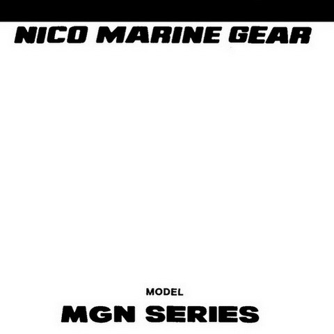 Yanmar MGN Series Nico Marine Gear Repair Service Manual