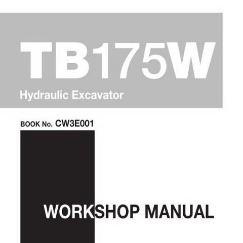 Takeuchi TB175W Hydraulic Excavator Workshop Service Repair Manual