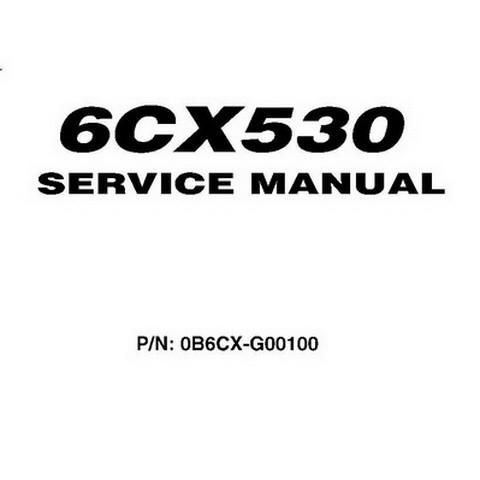Yanmar 6CX530 Marine Engines Repair Service Manual