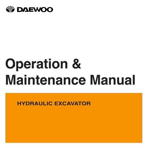 Daewoo Solar 015 PLUS & Solar 018-VT Excavator Operation and Maintenance Manual