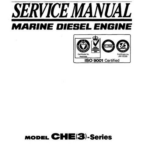 Yanmar CHE(3)-Series Marine Diesel Engine Repair Service Manual