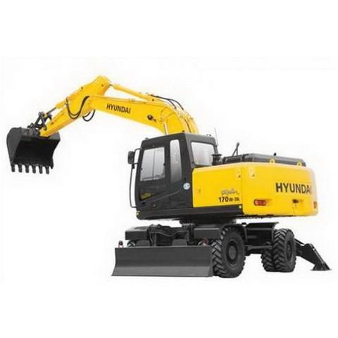 Hyundai Robex 170W-7A / R170W-7A Wheel Excavator Repair Service Manual