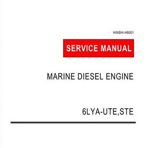 Yanmar 6LYA-UTE,STE Marine Diesel Engine Repair Service Manual