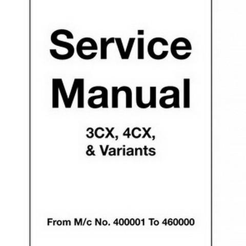 JCB 3CX, 4CX Backhoe Loader Repair Service Manual