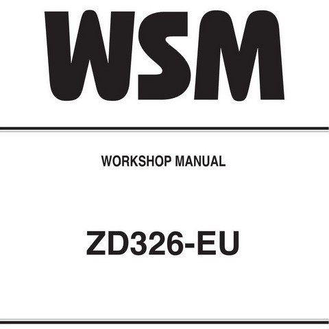 Kubota ZD326-EU Zero Turn Mower Service Repair Workshop Manual