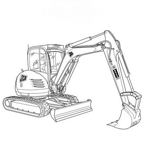 JCB 8040Z, 8045Z Mini Excavator Repair Service Manual