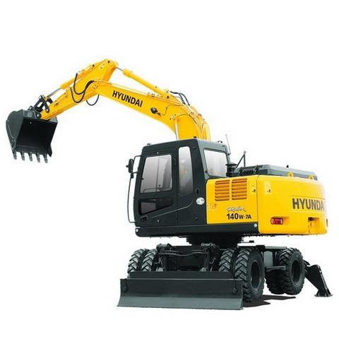 Hyundai Robex 140W-7A / R140W-7A Wheel Excavator Repair Service Manual