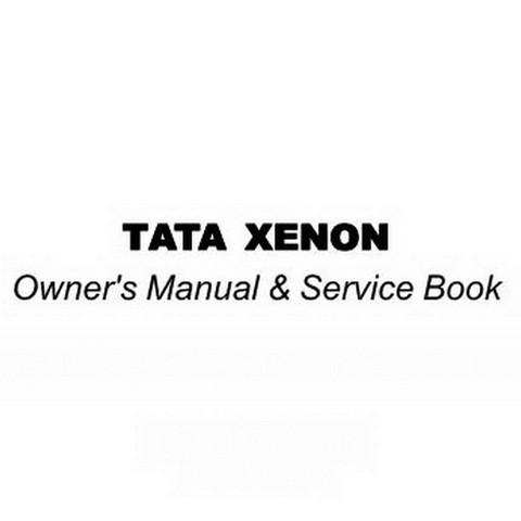 Tata XENON Owner's Manual & Service Book