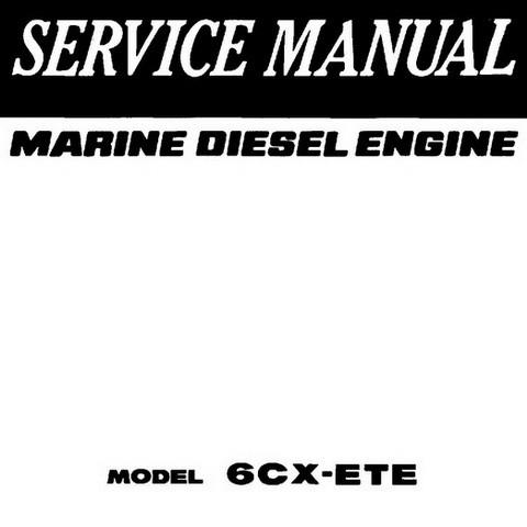 Yanmar 6X-ETE Marine Diesel Engines Repair Service Manual