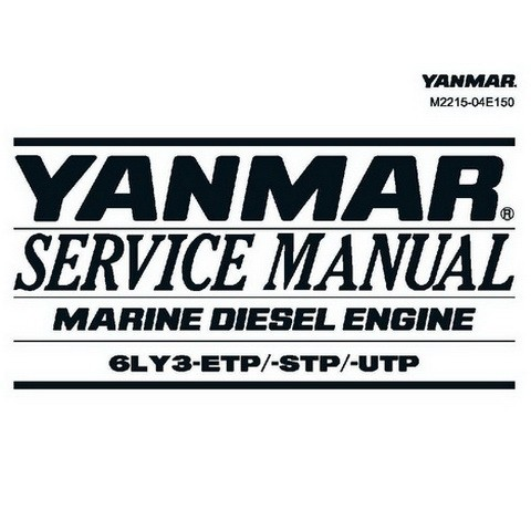 Yanmar 6LY3-ETP/STP/UTP Marine Diesel Engine Repair Service Manual