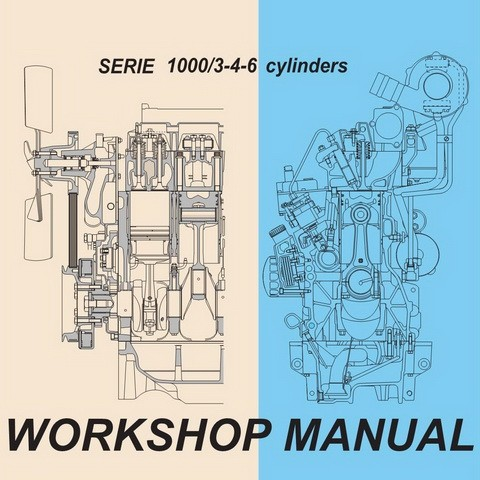 DEUTZ-FAHR ENGINE SERIE 1000/3-4-6 cylinders EURO 2 Service Repair Workshop Manual