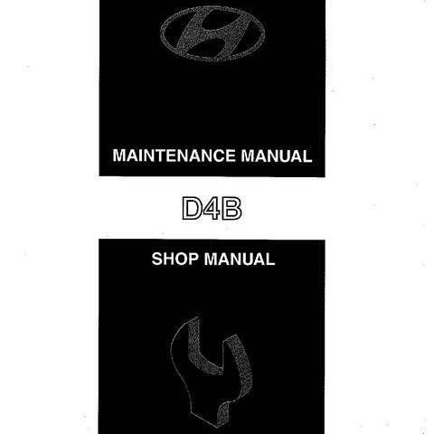 Hyundai Model D4B Industrial Engine Service Repair Shop Manual