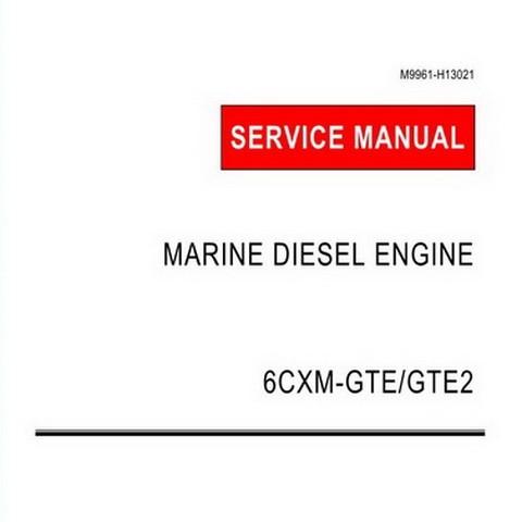Yanmar 6CXM-GTE/GTE2 Marine Diesel Engine Repair Service Manual