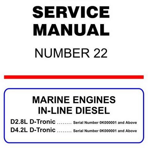 Mercury Marine MerCruiser Service Manual #22 IN-LINE DIESEL MARINE ENGINES
