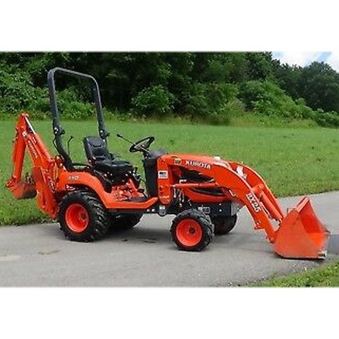 Kubota Model BX25 Tractor With RCK54(P)-23BX, RCK60B-23BX, LA240, BT601 Attachments Workshop Manual