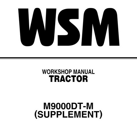 Kubota M9000DT-M Tractor Workshop Manual (Supplement)