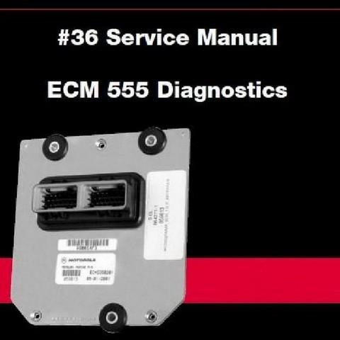 Mercury Marine MerCruiser Service Manual #36 ECM 555 Diagnostics
