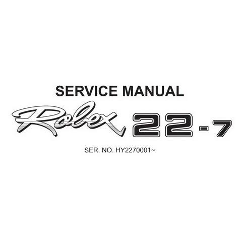 Hyundai Robex 22-7 / R22-7 Mini Excavator Service Repair Manual