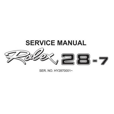 Hyundai Robex 28-7 / R28-7 Mini Excavator Service Repair Manual