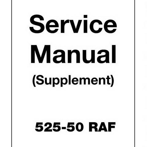 JCB 525-50 RAF Loadall Repair Service Manual (Supplement)