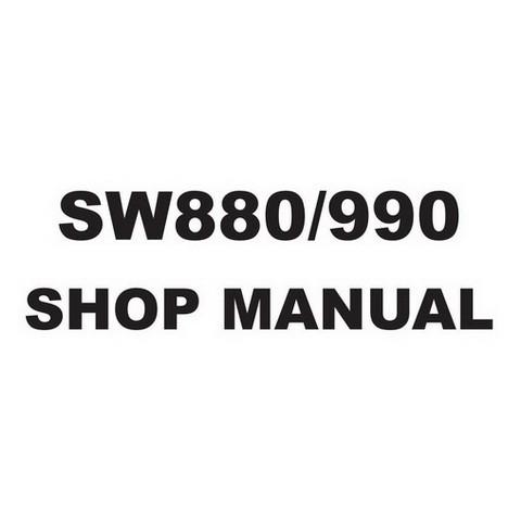 SAKAI SW880, SW990 Vibrating Roller Service Repair Shop Manual