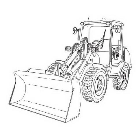 JCB 406, 409 Wheeled Loading Shovel Repair Service Man