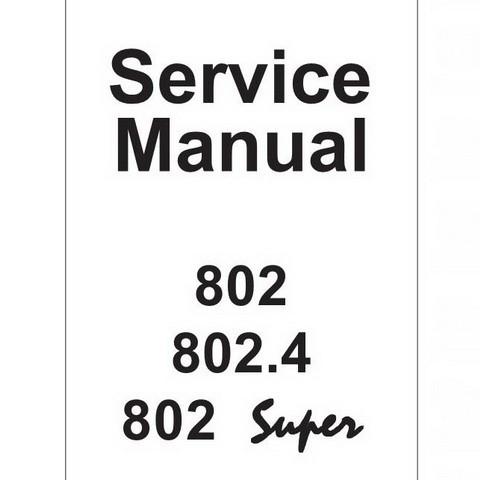JCB 802, 802.4, 802 Super Mini Excavator Repair Servic