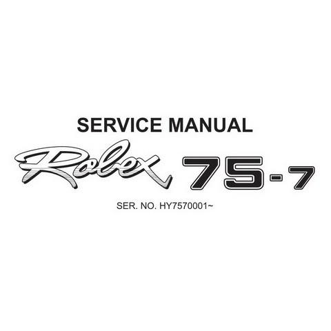 Hyundai Robex 75-7 / R75-7 Mini Excavator Service Repair Manual
