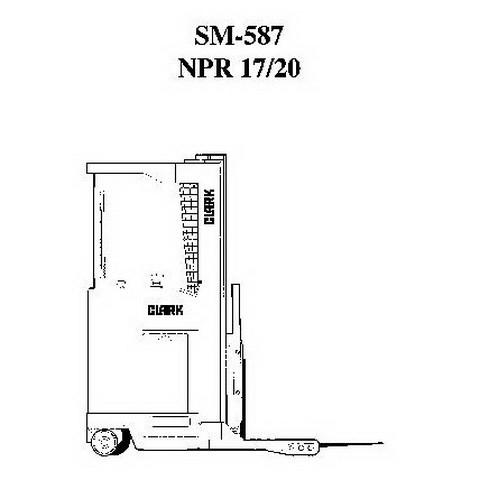 Clark Forklift NPR 17/20/345 Workshop Repair Service Manual