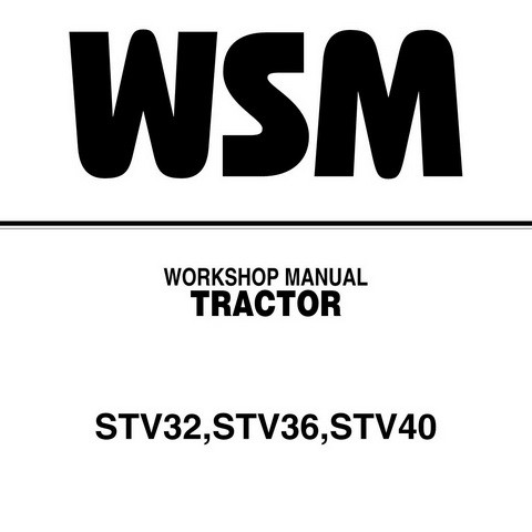Kubota STV32, STV36 & STV40 Tractor Service Repair Workshop Manual