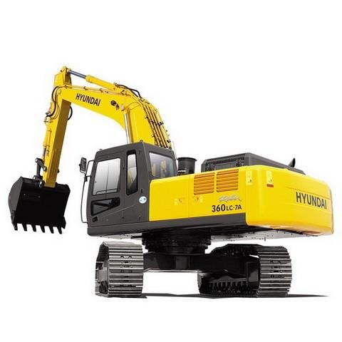 Hyundai Robex 360LC-7A / R360LC-7A Crawler Excavator Repair Service Manual