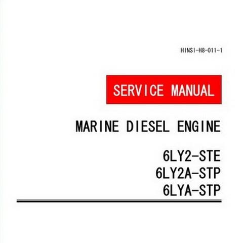 Yanmar 6LY2-STE/6LY2A-STP/6LYA-STP Marine Diesel Engine Repair Service Manual