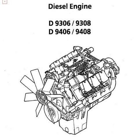 Liebherr D9306, D9308, D9406, D9408 Diesel Engine Repa