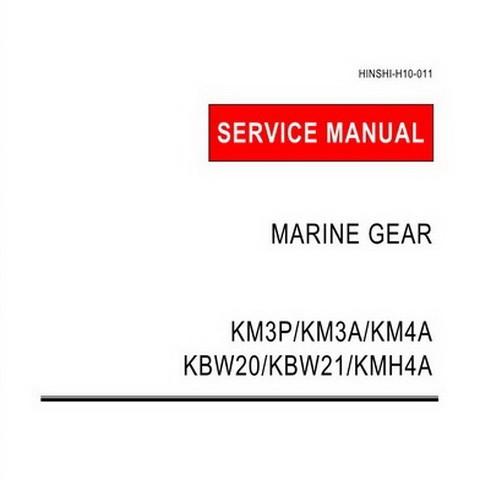 Yanmar KM3P, KM3A, KM4A, KBW20,KBW21, KMH4A Marine Gear Repair Service Manual