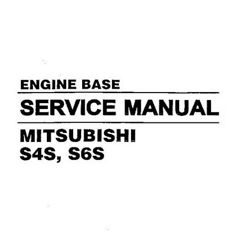 Hyundai S4S, S6S Mitsubishi Engine Base Repair Service Manual