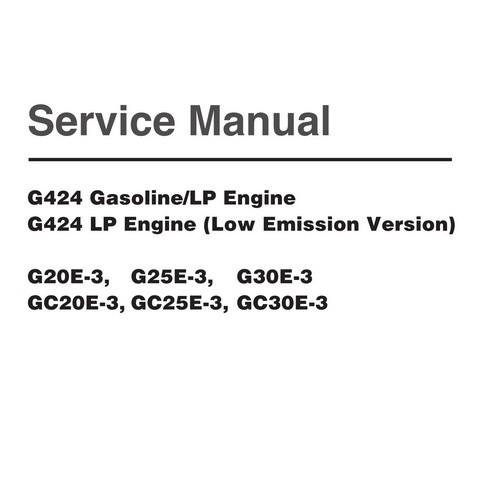 Daewoo G424 Engine Service Repair Shop Manual