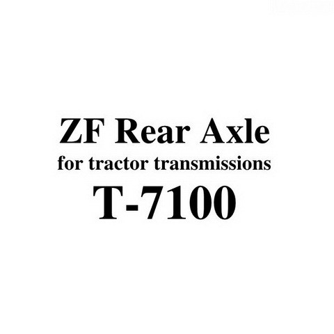 ZF Rear Axle T-7100 for tractor transmissions Service Repair Workshop Manual