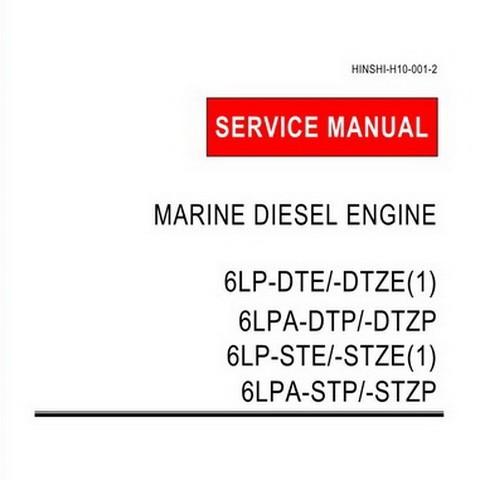 Yanmar 6LP & 6LPA Series Marine Diesel Engine Repair Service Manual