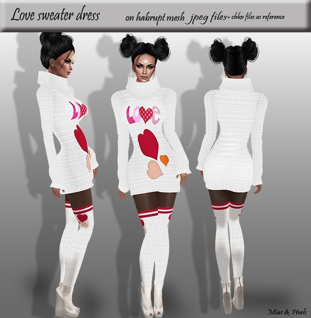 Love sweater dress