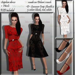 Sophia Dress + High Heels