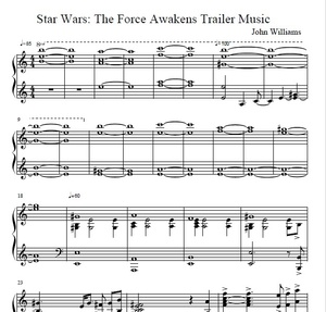 Star Wars - Force Awakens Trailer Piano