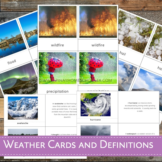 Montessori Weather Cards