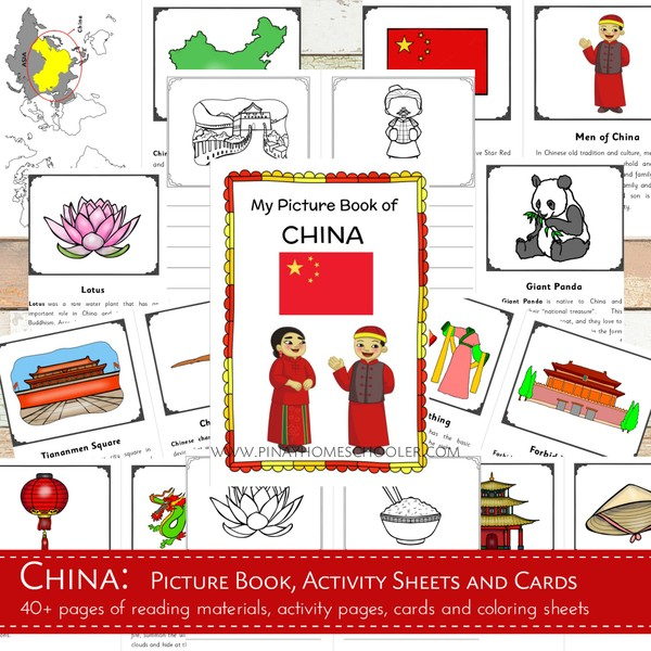 CHINA:  Picture Book, Activity Pages and Cards