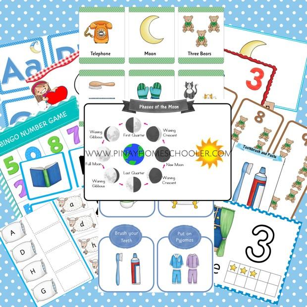 Bedtime Themed Printable Bundle Pack (Preschool Unit)