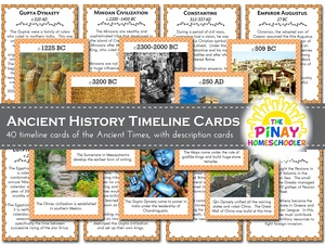 Timeline Cards of World History: Ancient Times