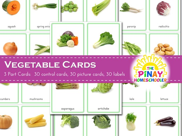 Vegetable 3 Part Cards